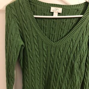 Green sweater from loft